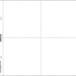 Pochettes pour classeur 20 x 20 cm à 4 compartiments