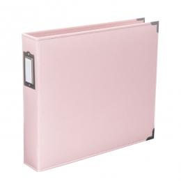 Album classeur 30,5 x 30,5 cm cuir rose BABY PINK