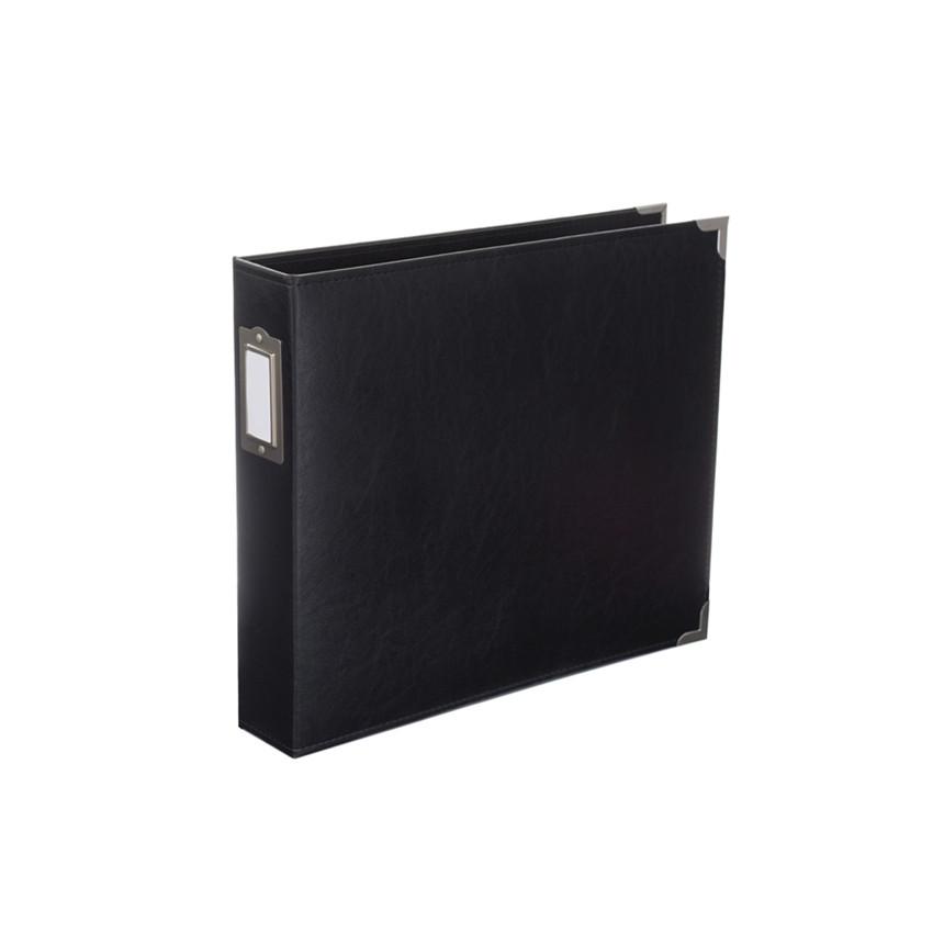 Album classeur 30,5 x 30,5 cm cuir noir MIDNIGHT