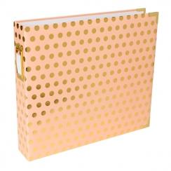 Album classeur 30,5 x 30,5 cm BLUSH GOLD DOTS par American Crafts. Scrapbooking et loisirs créatifs. Livraison rapide et cade...