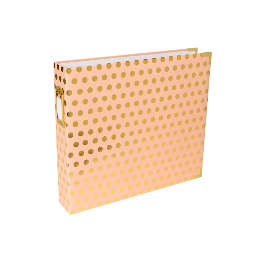 Album classeur 30,5 x 30,5 cm BLUSH GOLD DOTS