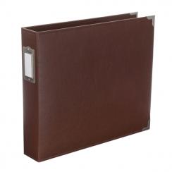 Album classeur 30,5 x 30,5 cm cuir marron CINNAMON par American Crafts. Scrapbooking et loisirs créatifs. Livraison rapide et...
