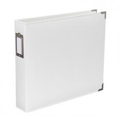 Album classeur 30,5 x 30,5 cm cuir blanc WHITE