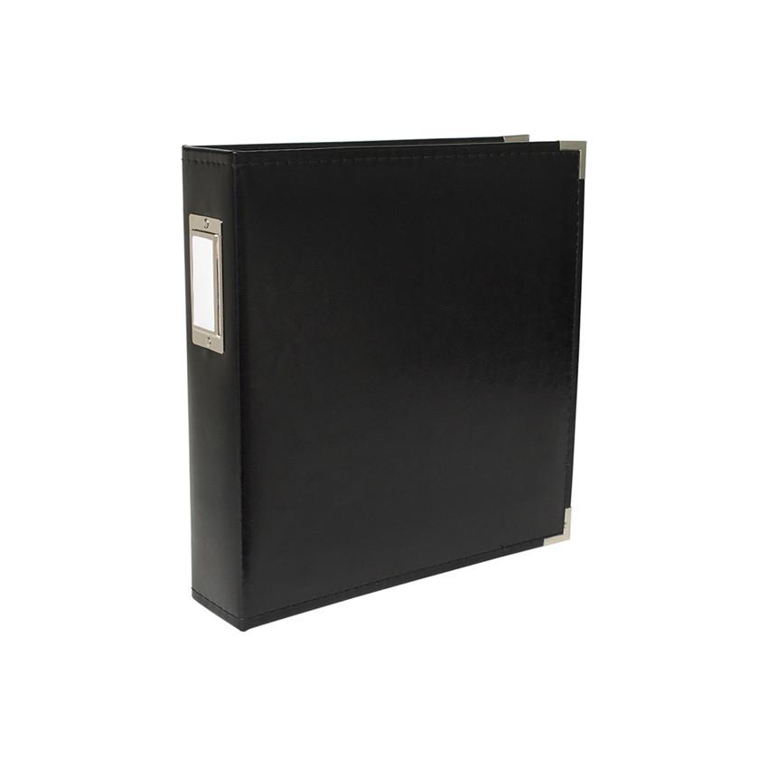 Album classeur A4 américain cuir noir BLACK par We R Memory Keepers. Scrapbooking et loisirs créatifs. Livraison rapide et ca...