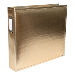 Album classeur 30,5 x 30,5 cm cuir or GOLD