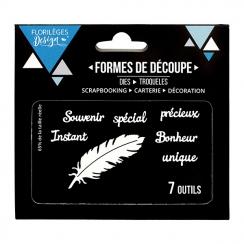 Outils de découpe À LA PLUME par Florilèges Design. Scrapbooking et loisirs créatifs. Livraison rapide et cadeau dans chaque ...