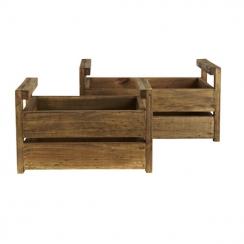 Ensemble de 2 caisses en bois par . Scrapbooking et loisirs créatifs. Livraison rapide et cadeau dans chaque commande.