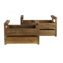 Ensemble de 2 caisses en bois