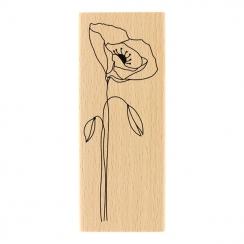 Tampon bois LONG COQUELICOT par Florilèges Design. Scrapbooking et loisirs créatifs. Livraison rapide et cadeau dans chaque c...
