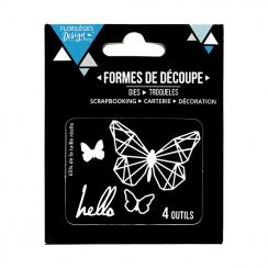 PROMO de -60% sur Outils de découpe HELLO BUTTERFLY- Capsule Août 2017 Florilèges Design