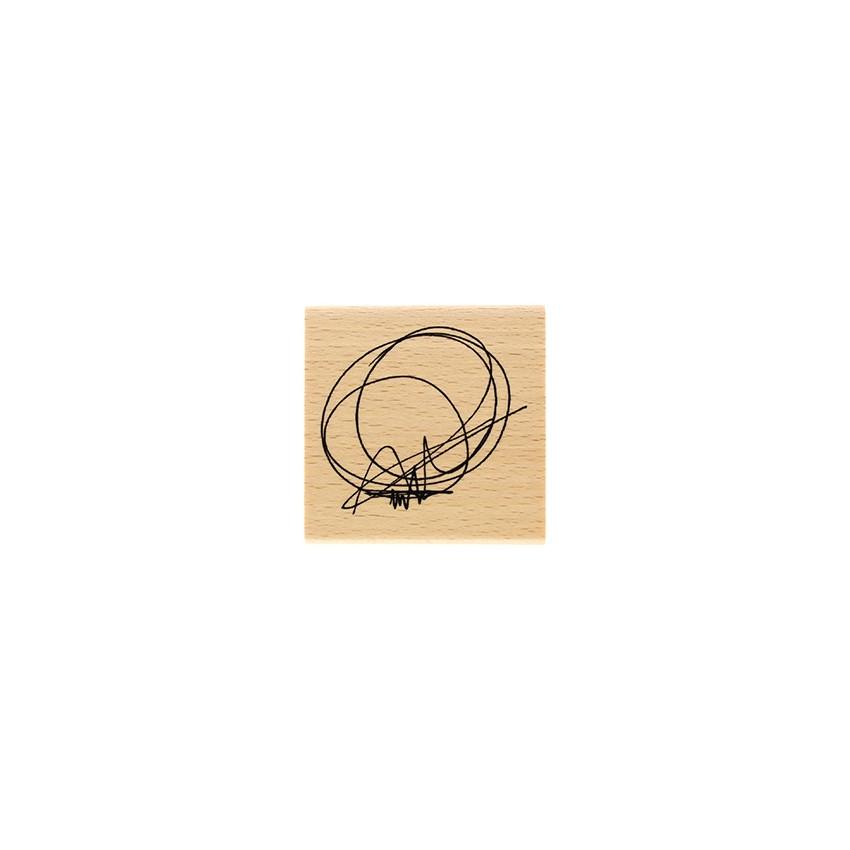 Tampon bois CERCLE GRIBOUILLIS