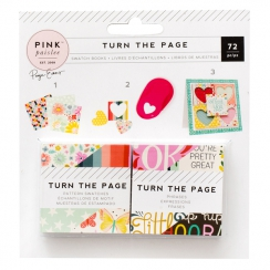 Mini blocs 5 x 5 cm papiers imprimés TURN THE PAGE