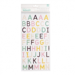 Alphabet chipboard TURN THE PAGE