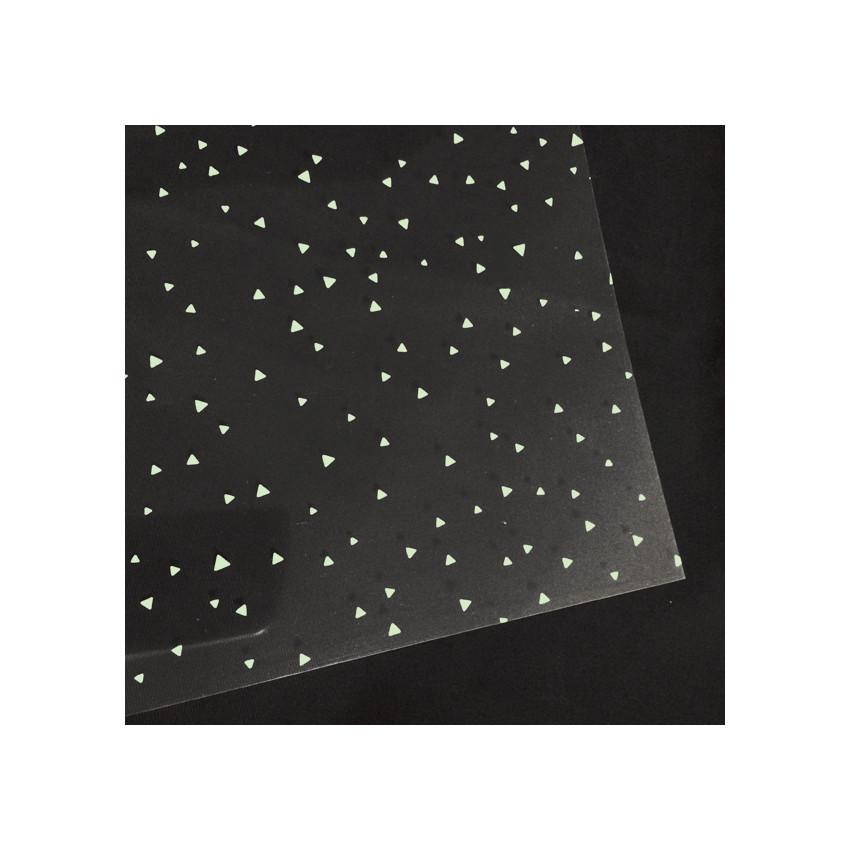 Transparent Crystal 30,5 x 30,5 cm TRIANGLE MINT