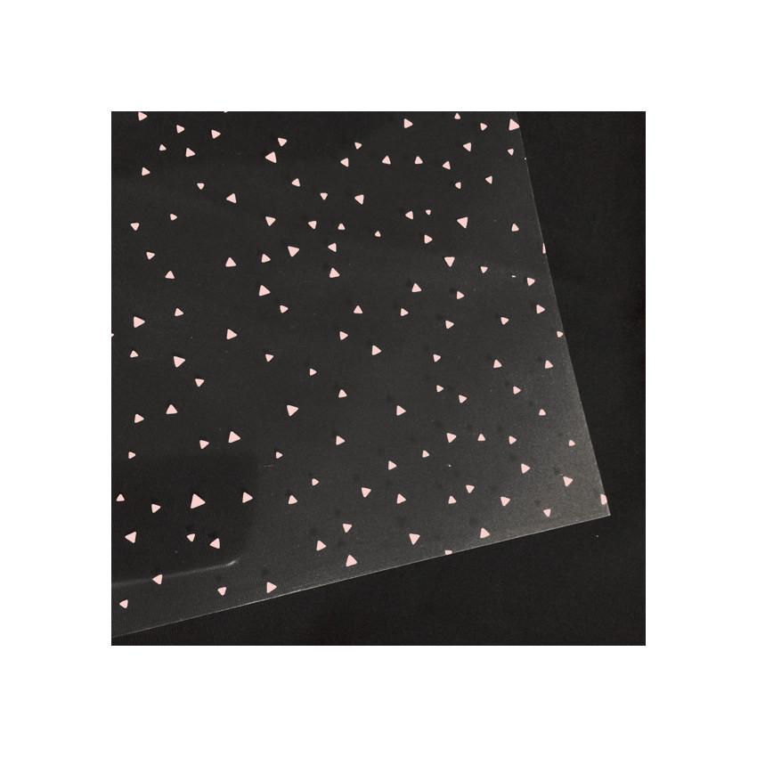 Transparent Crystal 30,5 x 30,5 cm TRIANGLE ROSE
