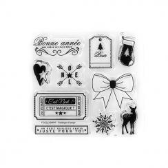 Tampon clear NOËL MAGIQUE par Florilèges Design. Scrapbooking et loisirs créatifs. Livraison rapide et cadeau dans chaque com...