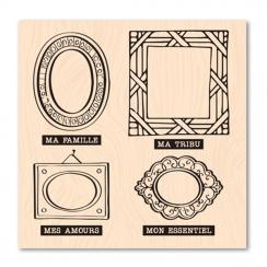 Tampon bois Version Originale CADRES FAMILLE
