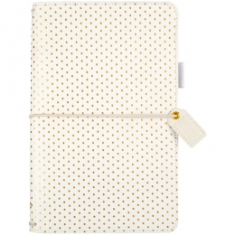 Traveler's planner Color Crush GOLD DOTS