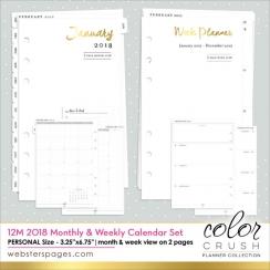 Recharge 2018 semaine/mois pour Personnal Planner Color Crush