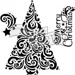 Pochoir 15 x 15 cm CHRISTMAS TREE