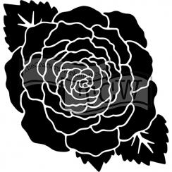 Pochoir 15 x 15 cm LARGE ROSE