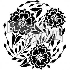 Pochoir 15 x 15 cm FLOWER DANCE