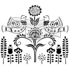 Pochoir 15 x 15 cm SCANDINAVIAN GARDEN par Crafter's Workshop. Scrapbooking et loisirs créatifs. Livraison rapide et cadeau d...
