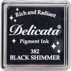 Mini encre pigment Delicata BLACK SHIMMER par Tsukineko. Scrapbooking et loisirs créatifs. Livraison rapide et cadeau dans ch...