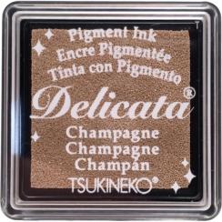 Mini encre pigment Delicata CHAMPAGNE par Tsukineko. Scrapbooking et loisirs créatifs. Livraison rapide et cadeau dans chaque...