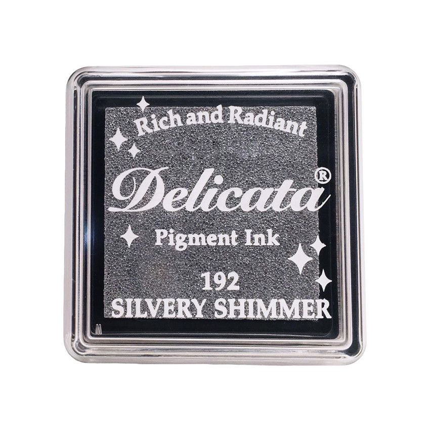 Mini encre pigment Delicata SILVERY SHIMMER par Tsukineko. Scrapbooking et loisirs créatifs. Livraison rapide et cadeau dans ...