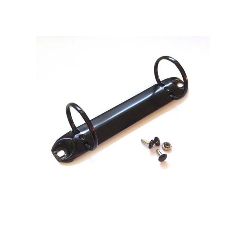 Mécanisme anneaux classeur noir