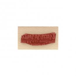 Tampon bois TRACER SA ROUTE par Florilèges Design. Scrapbooking et loisirs créatifs. Livraison rapide et cadeau dans chaque c...