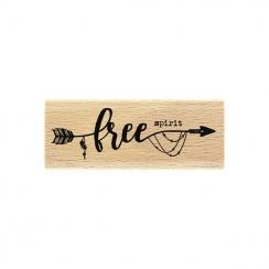 Tampon bois FREE SPIRIT par Florilèges Design. Scrapbooking et loisirs créatifs. Livraison rapide et cadeau dans chaque comma...