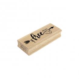 PROMO de -99.99% sur Tampon bois FREE SPIRIT Florilèges Design
