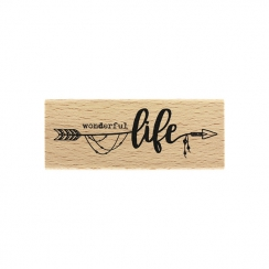 PROMO de -40% sur Tampon bois WONDERFUL LIFE Florilèges Design
