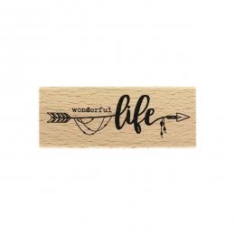Tampon bois Wonderful Life