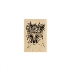 Tampon bois RENARD GYPSY par Florilèges Design. Scrapbooking et loisirs créatifs. Livraison rapide et cadeau dans chaque comm...