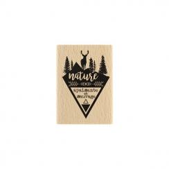 Tampon bois NATURE APAISANTE par Florilèges Design. Scrapbooking et loisirs créatifs. Livraison rapide et cadeau dans chaque ...