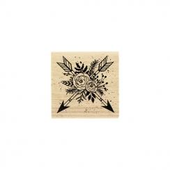 Tampon bois FLÈCHES EN FLEURS par Florilèges Design. Scrapbooking et loisirs créatifs. Livraison rapide et cadeau dans chaque...