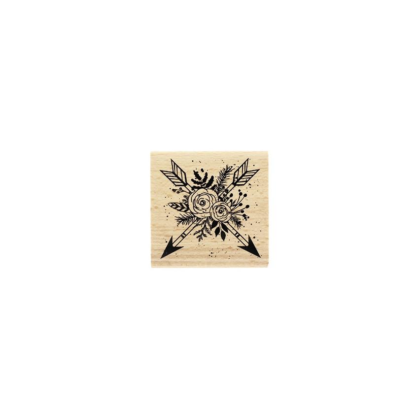 Tampon bois Flèches En Fleurs
