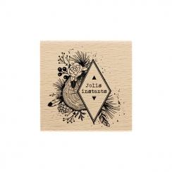 Tampon bois INSTANTS NATURELS par Florilèges Design. Scrapbooking et loisirs créatifs. Livraison rapide et cadeau dans chaque...