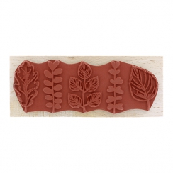 Tampon bois CINQ FEUILLAGES par Florilèges Design. Scrapbooking et loisirs créatifs. Livraison rapide et cadeau dans chaque c...