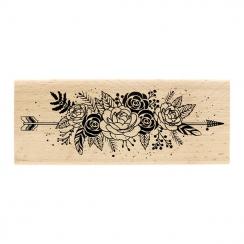 Tampon bois FLEURS ET PLUMES par Florilèges Design. Scrapbooking et loisirs créatifs. Livraison rapide et cadeau dans chaque ...