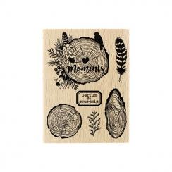Tampon bois PARFUM DE SOUS-BOIS par Florilèges Design. Scrapbooking et loisirs créatifs. Livraison rapide et cadeau dans chaq...