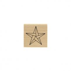 Tampon bois Étoile Origami