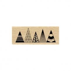 PROMO de -99.99% sur Tampon bois SAPINS GRAPHIQUES Florilèges Design