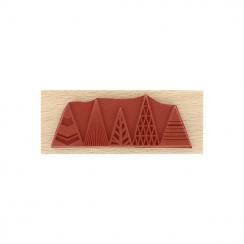 Tampon bois Sapins Graphiques