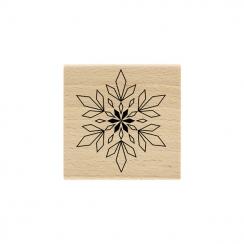 Tampon bois FLOCON GÉOMÉTRIQUE par Florilèges Design. Scrapbooking et loisirs créatifs. Livraison rapide et cadeau dans chaqu...