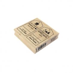 Tampon bois LIVRAISON DE NOËL par Florilèges Design. Scrapbooking et loisirs créatifs. Livraison rapide et cadeau dans chaque...
