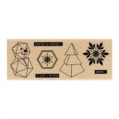 Tampon bois PETITS BOUTS D'HIVER par Florilèges Design. Scrapbooking et loisirs créatifs. Livraison rapide et cadeau dans cha...